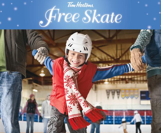 Tim Hortons Free Skating Schedule