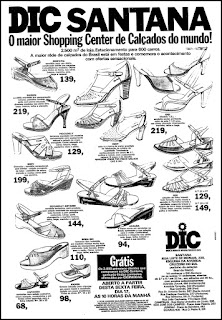 propaganda Shopping Center de Calçados DIC - 1978; sapatos femininos anos 70; moda anos 70; propaganda anos 70; história da década de 70; reclames anos 70; brazil in the 70s; Oswaldo Hernandez