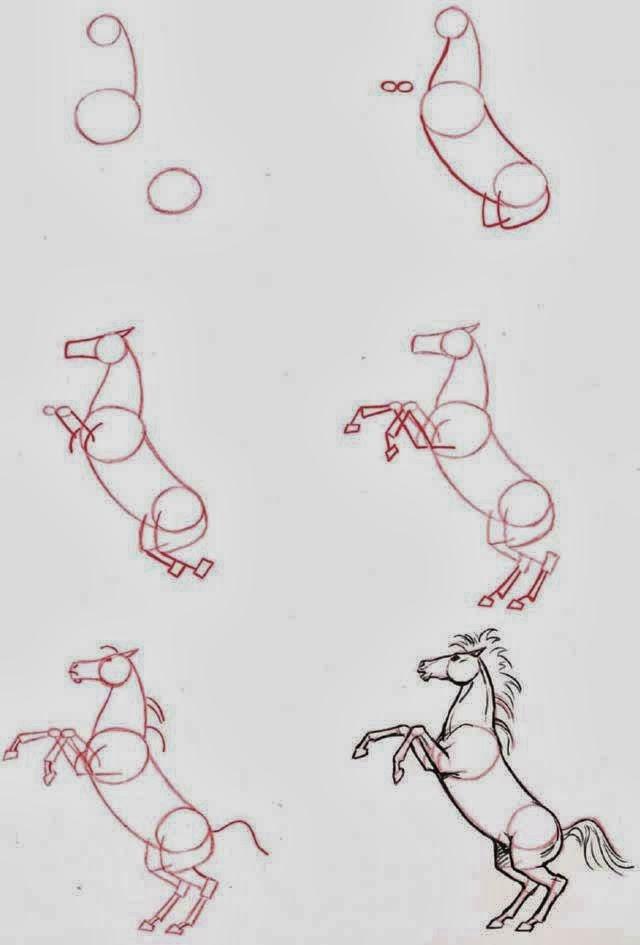 Le coin des enfants apprendre dessiner un cheval - Apprendre a dessiner des chevaux ...