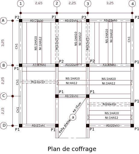 cours dessin de plans coffrage ferraillage et b ton arm. Black Bedroom Furniture Sets. Home Design Ideas