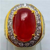 Cincin Batu Permata Ruby Merah Delima Langka