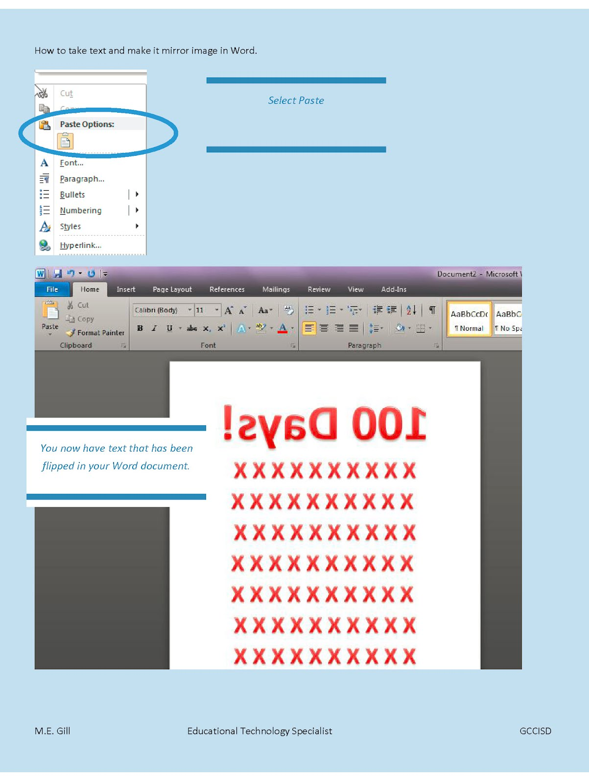 word set up pages for printing cybertext newsletter