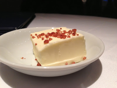 Hawaiian sea salt on butter at Farallon restaurant in San Francisco
