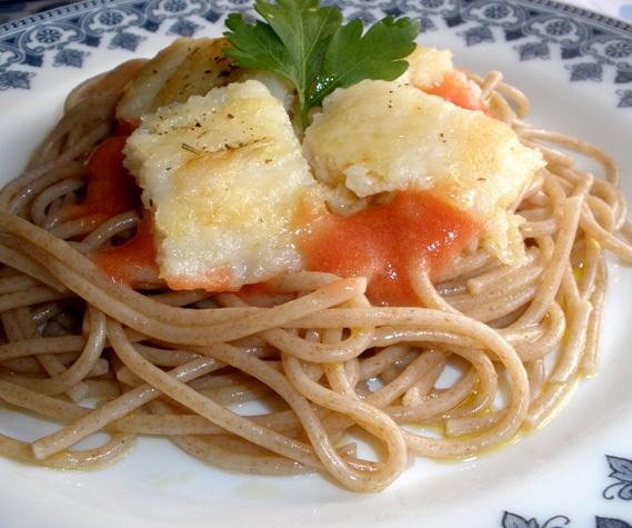 Espagueti De Espelta Con Perca