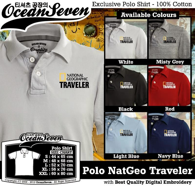 Kaos Polo NatGeo Traveler