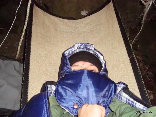 Hamaca de Quercus V2.0 para dormir al are libre. Tela de ixtle.