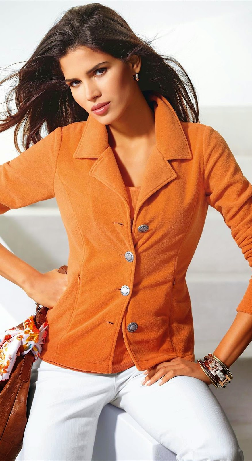 Madeleine Fleece Jacket Orange