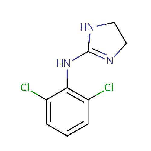 Struktur Kimia Klonidin / Clonidine