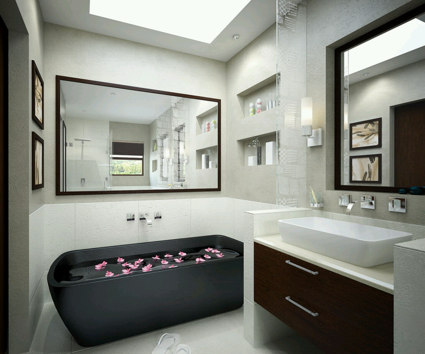 Modern bathrooms cabinets designs furniture gallery for Photos of contemporary bathrooms