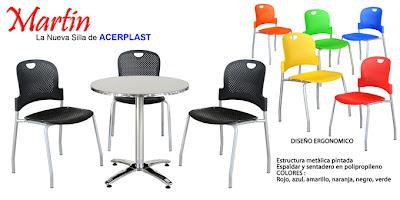Acerplast s a s sillas para bares y restaurantes for Sillas para cafeteria