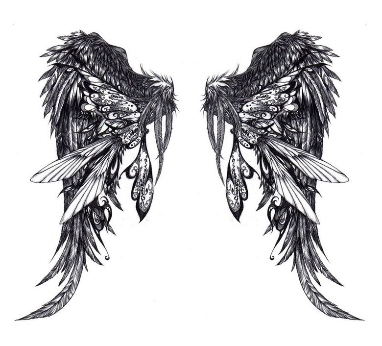 Labels: Glamorous Angel Wings Tattoos Gallery