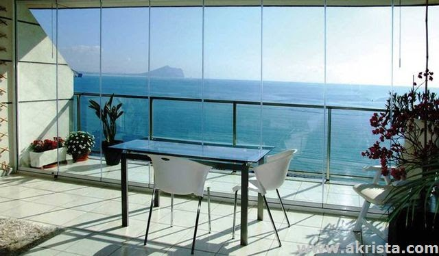 Cerramientos de terrazas con cortinas de cristal reformas chimeneas madrid reformar salida de - Cerramientos de aticos ...