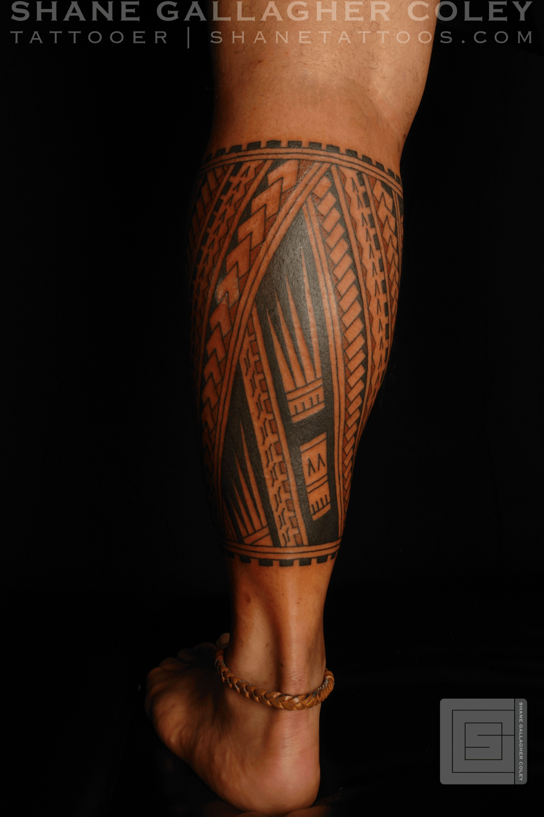 SHANE TATTOOS Polynesian Calf Tatau Tattoo