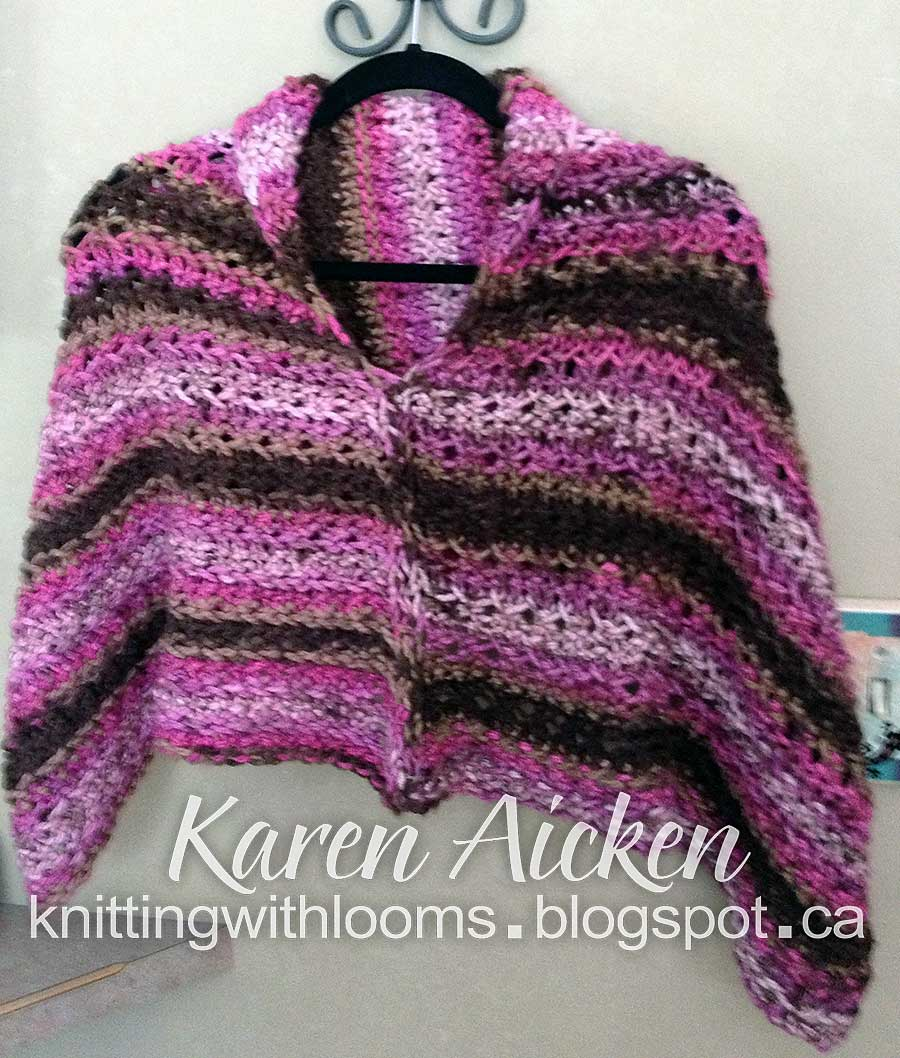 Knitting With Looms: Moms Short Poncho
