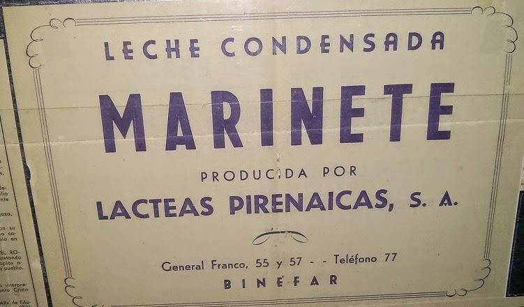 Leche Marinete Binefar
