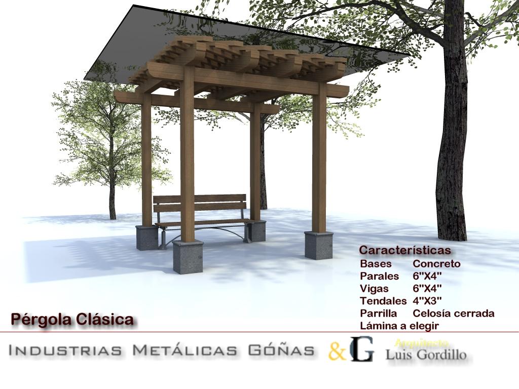 Construcci n de p rgolas de madera arquitecto luis gordillo - Construccion de pergolas de madera ...