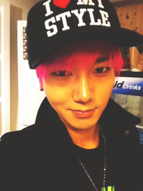 Yesung Super Junior Pink Hair Style