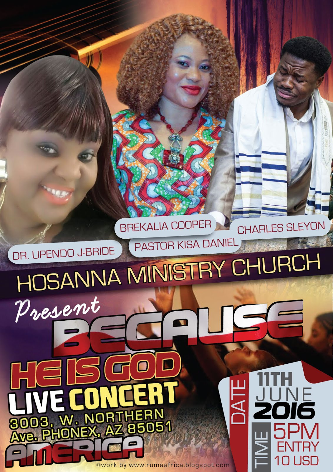 BEACUESE HE IS GOD LIVE CONCERT