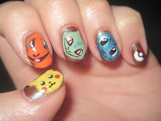 Unhas decoradas do Pokemon