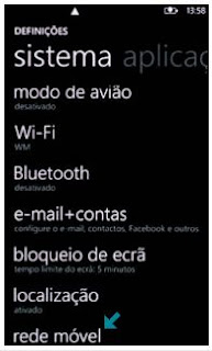 Configurar internet 3G no Windows Phone 7.5