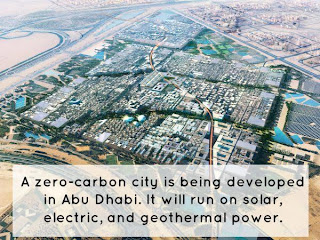 Zero carbon city is being developed in Abu Dhabi
