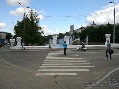 Казанский парк Черное озеро, вход в парк