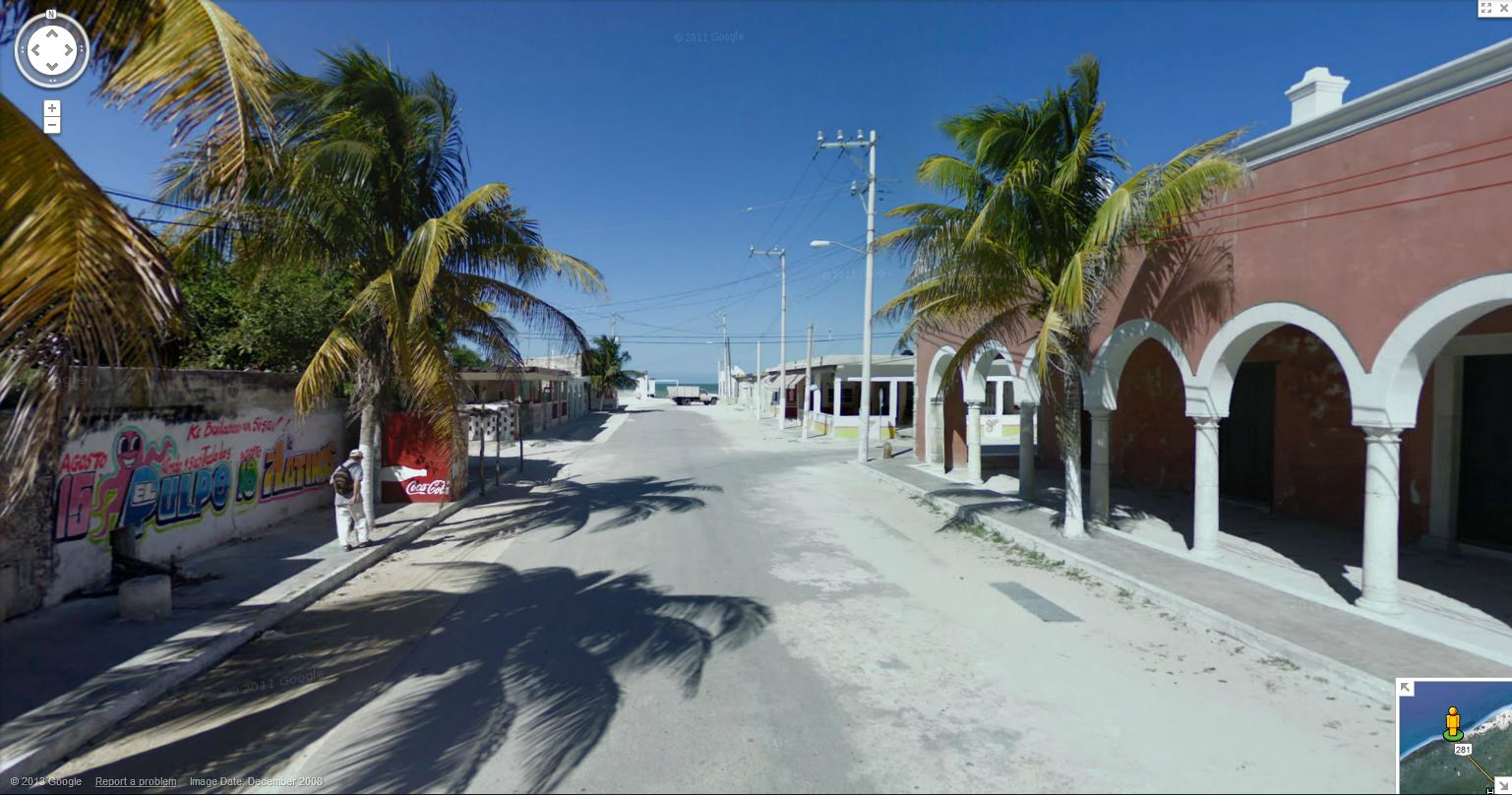 Favourite g streetview In Sisal, Yucatán, Mexico, along