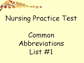 Common blood test abbreviations