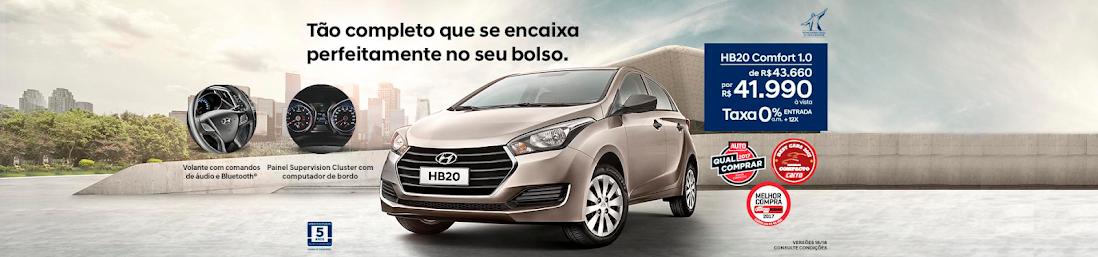 Distribuidora Hyundai para Garanhuns e Região da linha HB20 e CRETA