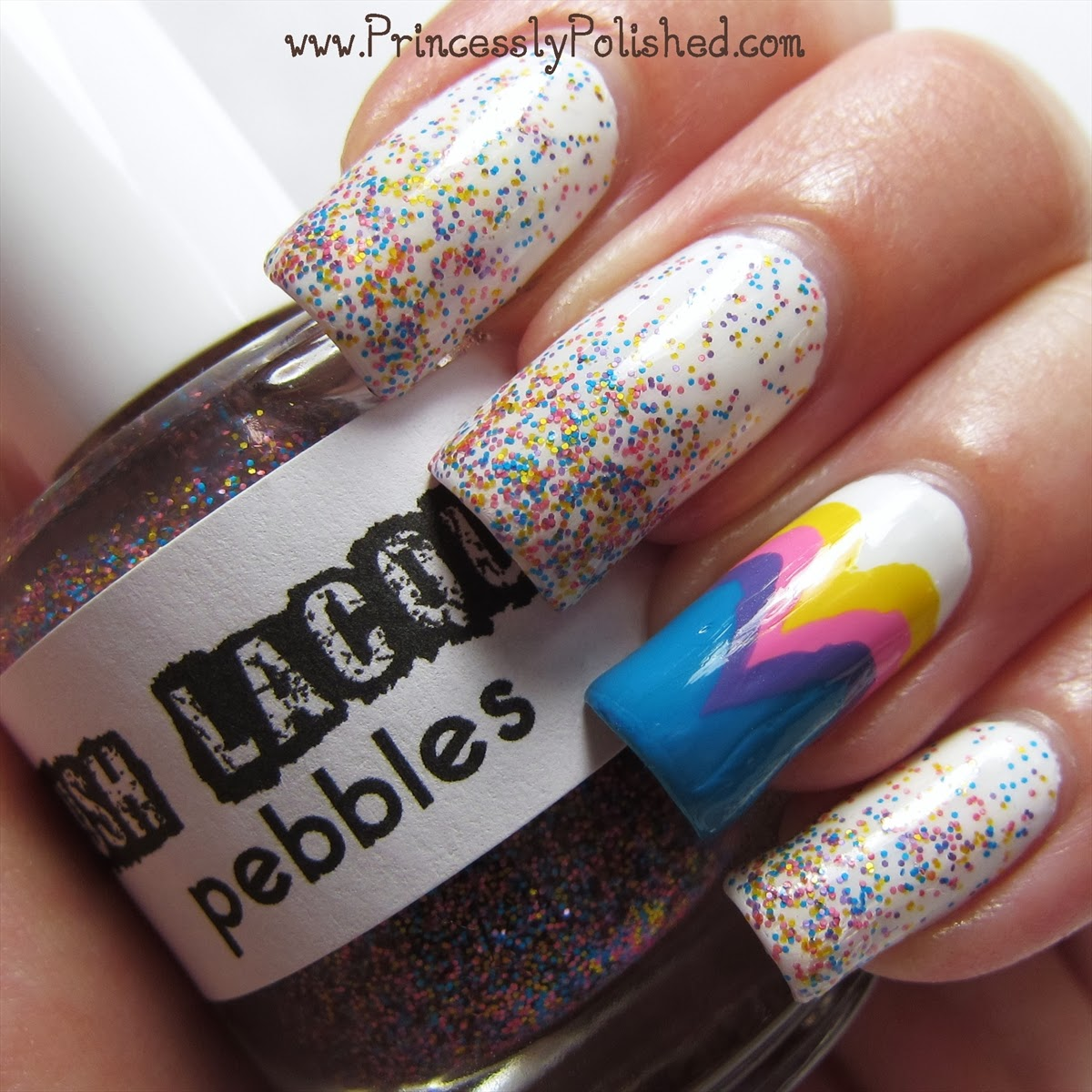 Princessly Polished: Lush Lacquer: Pebbles with Fishtail Accent ...