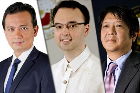 A divided house? NP might declare 'free-zone' for Cayetano, Trillanes and Marcos's VP bids