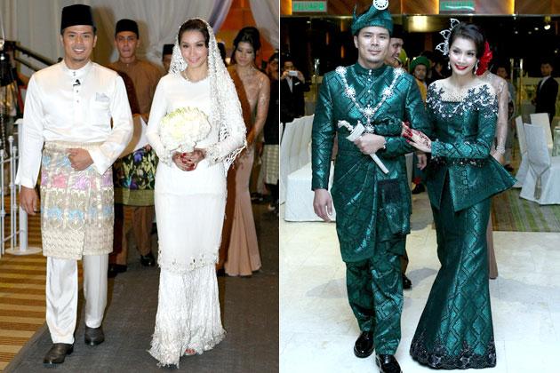 Kurung lace scha al yahya wedding dress