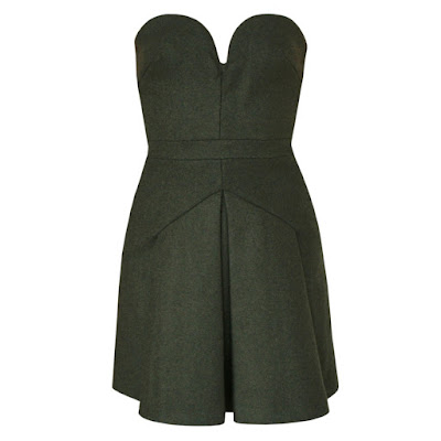 no21 moss green corset bustier dress