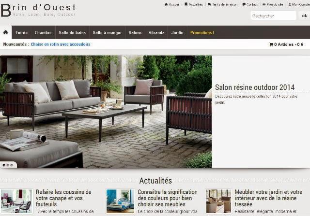 Magasin de meuble en ligne Brin d'Ouest