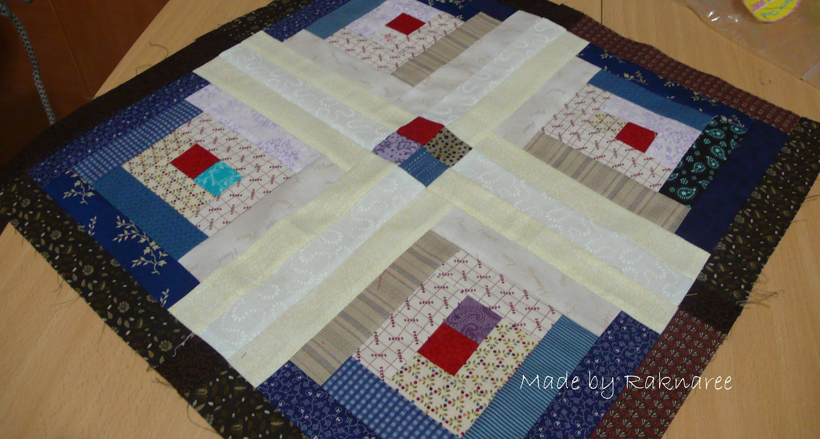 Marvelous photograph of Log Cabin Come2Quilt with #6F201C color and 1600x856 pixels
