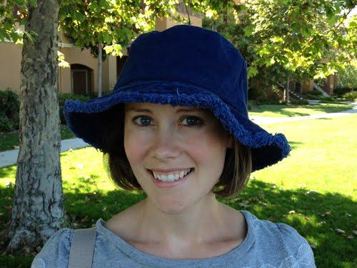 I found this hat at Eddie Bauer. I m a sucker for navy blue and I love the  fringe around the brim. c0cee2dd632