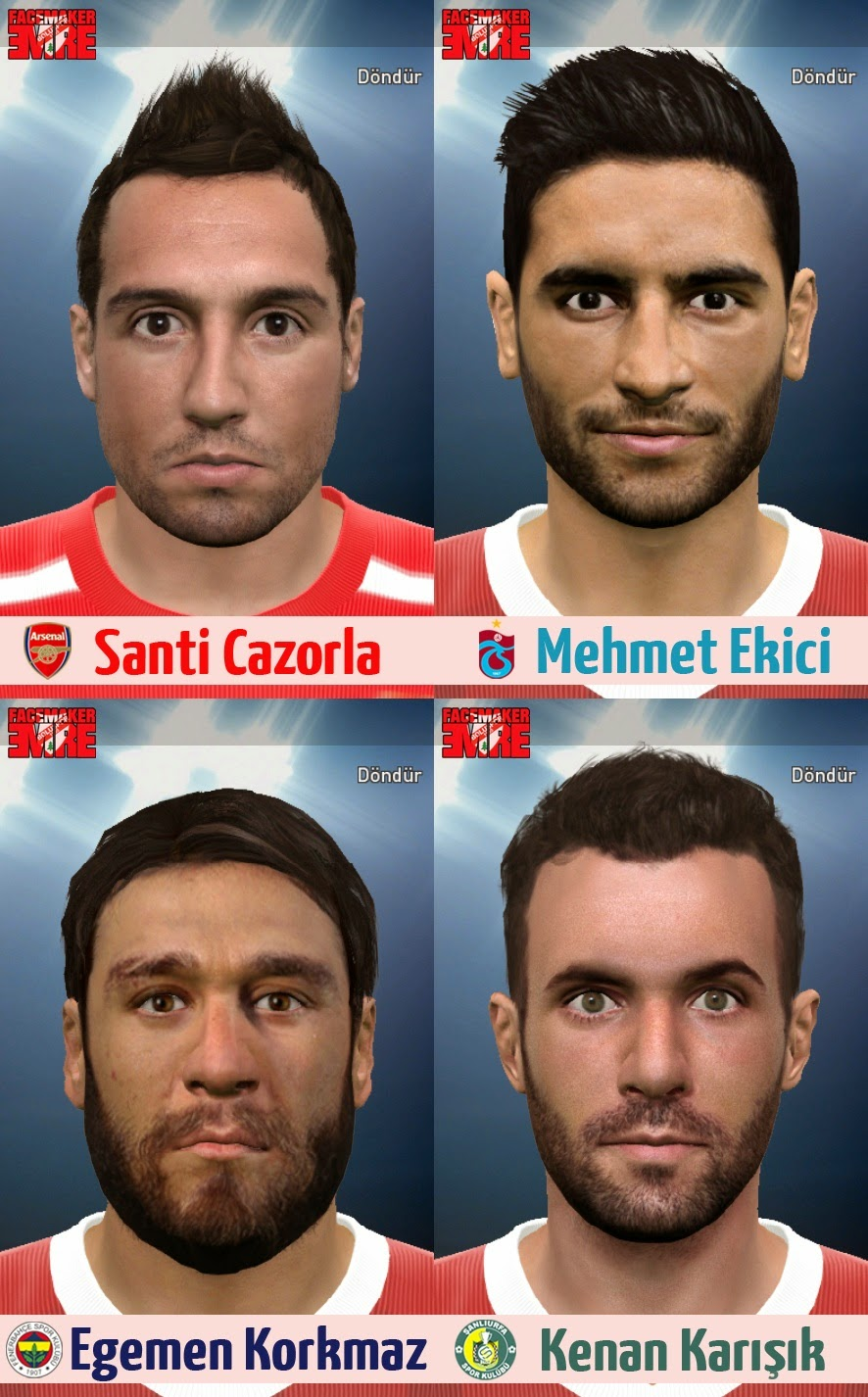PES 2015 Facepack 2 by emre0796