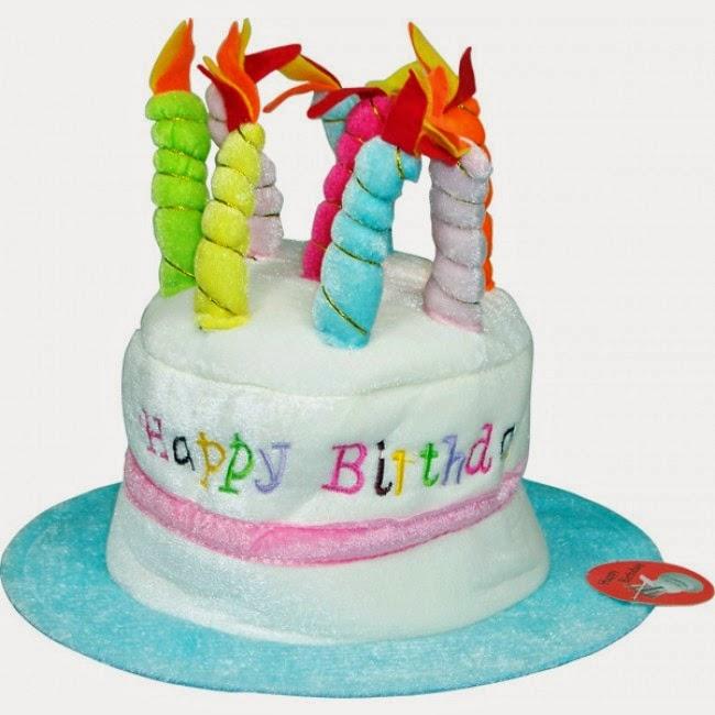 Sombrero Peluche Tarta Cumpleaños