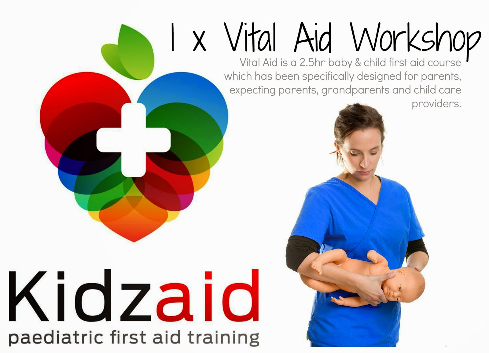 Kidzaid Australia vital aid workshop description for babies and kids