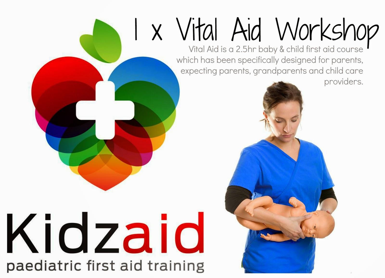 Kidzaid Australia vital aid workshop description for babies and kids