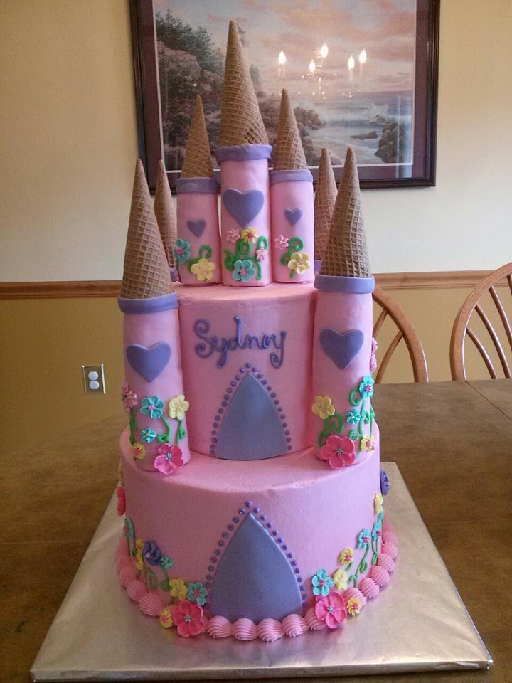 Pink Princess Castle Cake A Beautiful For 3 Year Old