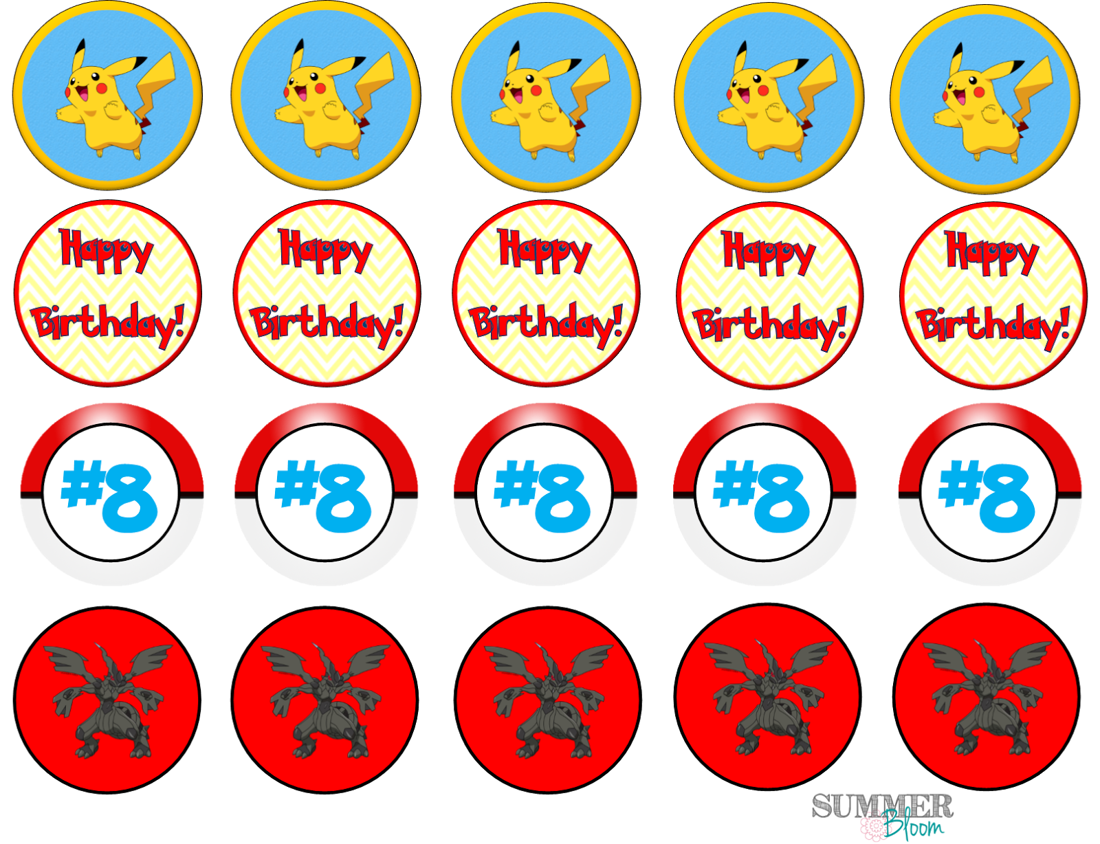 Summer Bloom Teach Create Party Pokemon Birthday Party with