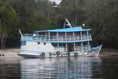 House boat in Amazon forest