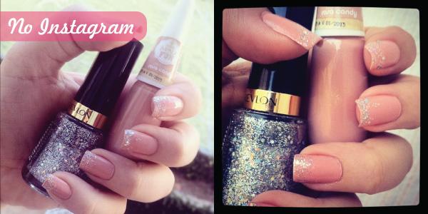 ombre nails com glitter