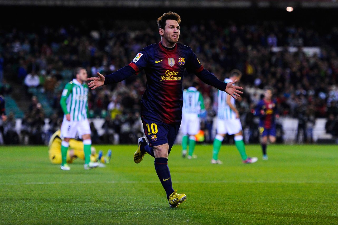 football lionel messi highest goals in 2012