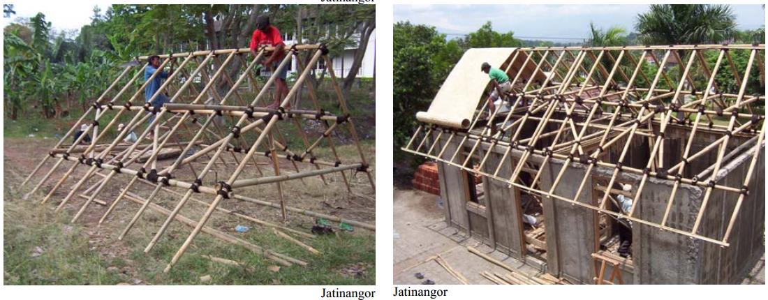 Adapun konstruksi dan cara pemasangan dinding bambu plaster sangat ...