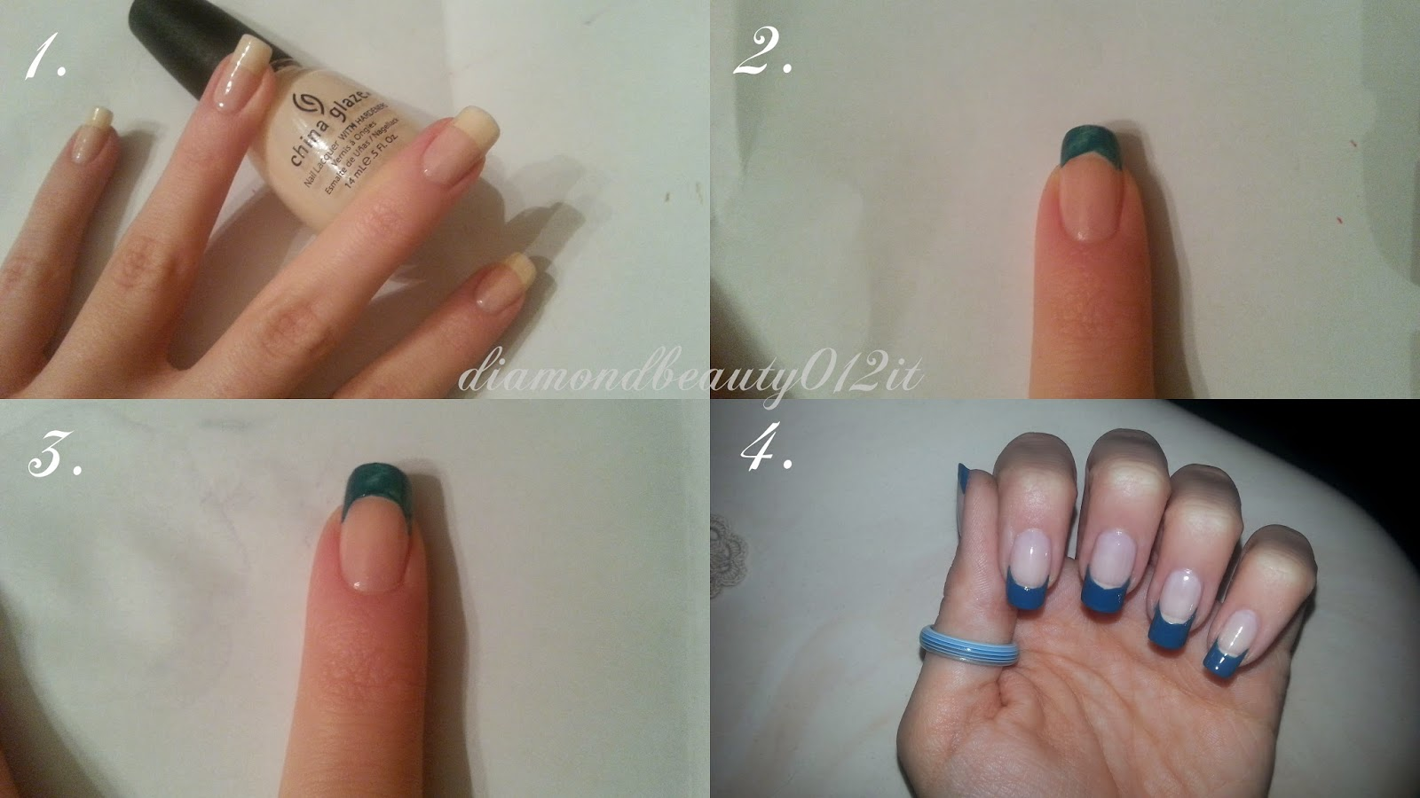 tutorial french manicure particolare verde