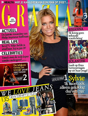 Sylvie van der Vaart Photos from Cosmopolitan Netherlands Magazine Cover February 2014 HQ Scans
