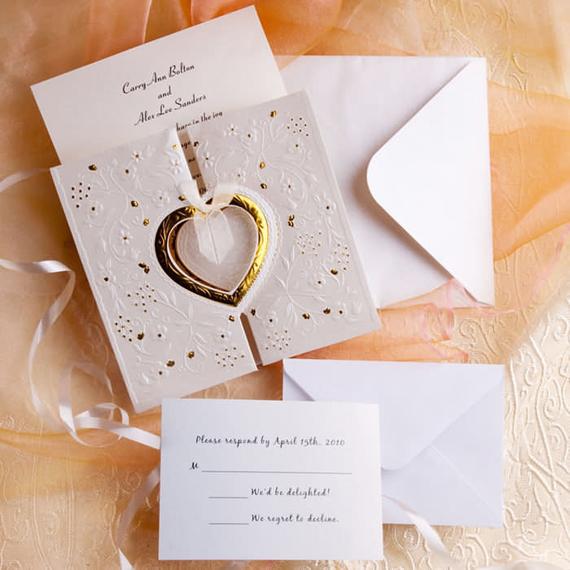 wedding inspiration center formal wedding invitation