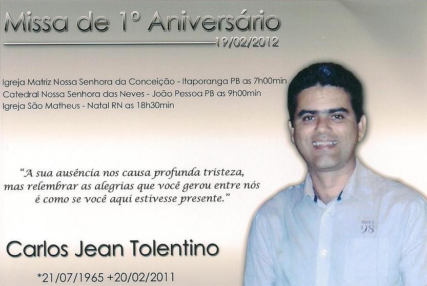 Convite De Missas De 1   Aniv Ers  Rio De Morte Do Empreendedor